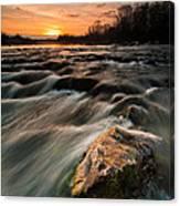 River Sunset Canvas Print