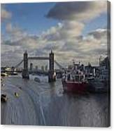 River Thames Waterfall Canvas Print