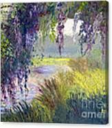River Through The Moss Canvas Print