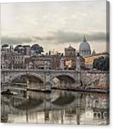 River Tiber In Rome Canvas Print