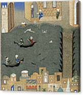 River Tigris In Baghdad Canvas Print