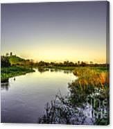 River Tone At Burrowbridge Canvas Print