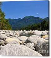 River With Mountain Canvas Print