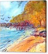 Riverbeach Canvas Print