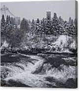 Riverfront Park Winter Storm - Spokane Washington Canvas Print
