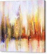 Riverfront Refraction Fine Art Painting Canvas Print
