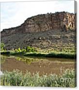 River's Rough Bluff Canvas Print