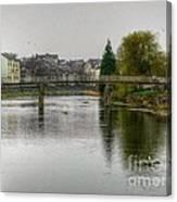 The River Kent At Kirkland In Kendal Canvas Print