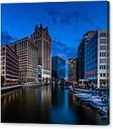 Riverside Blue Hour Canvas Print