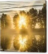 Riverside Morning Walks Canvas Print