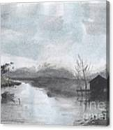 Riverside Scene Canvas Print