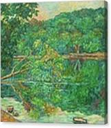 Riverview Reflections Canvas Print