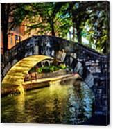 Riverwalk In The Sun Canvas Print