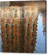 Riverwalk Reflection Canvas Print