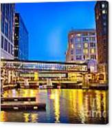 Riverwalk Shimmer Canvas Print
