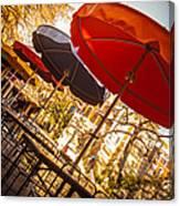Riverwalk Umbrellas Canvas Print