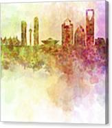 Riyadh Skyline In Watercolour Background  Canvas Print