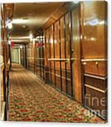 Rms Queen Mary Passenger Hallway Passageway  Canvas Print