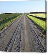 Road Across North Dakota Prairie Canvas Print