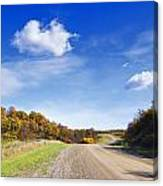 Road Approaching Hill Canvas Print