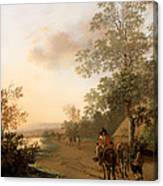 Road By The Edge Of A Lake Canvas Print