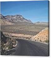 Road In Desert Canvas Print