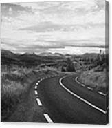 road leading to molls gap on the Iveragh Peninsula Ring of Kerry Ireland Canvas Print