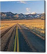 Road Through Desert Canvas Print