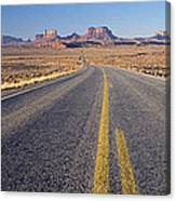 Road Through Monument Valley, Utah Canvas Print