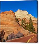 Road Through Zion Np Canvas Print
