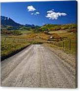 Road To A Beautiful Valley Ranch Canvas Print