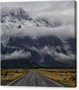 Road To Mt Cook Canvas Print