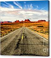 Road To Navajo Canvas Print