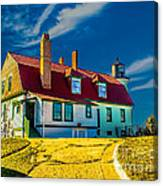 Road To Point Betsie Light Canvas Print