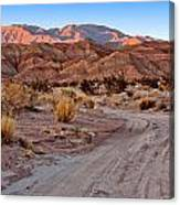 Road To The Badlands Canvas Print