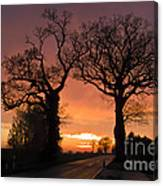 Road To The Night Canvas Print