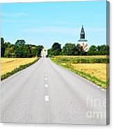Road To The Village Canvas Print