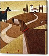 Road To Tuscany Canvas Print