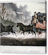 Road Travel/stagecoach Canvas Print