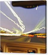 Road Viewed From A Car, Atlanta, Georgia Canvas Print