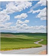 Road Winding Through The Palouse Wheatfields Canvas Print