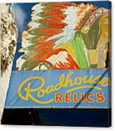 Roadhouse Relics Sign Canvas Print
