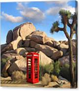 Phone Booth In Joshua Tree Canvas Print