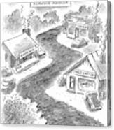 Roadside Ambush Canvas Print