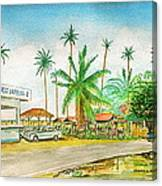 Roadside Food Stands Puerto Rico Canvas Print