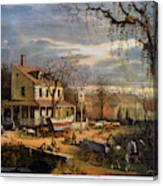 Roadside Inn, 1872 Canvas Print