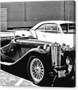 Roadster In Black And White Canvas Print