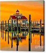 Roanoke Lighthouse Dawn Canvas Print