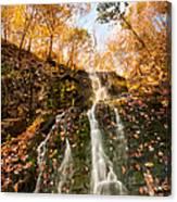Waterfall - Roaring Brook Autumnlands Canvas Print