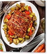 Roasted Pork Loin Roast Dinner Canvas Print